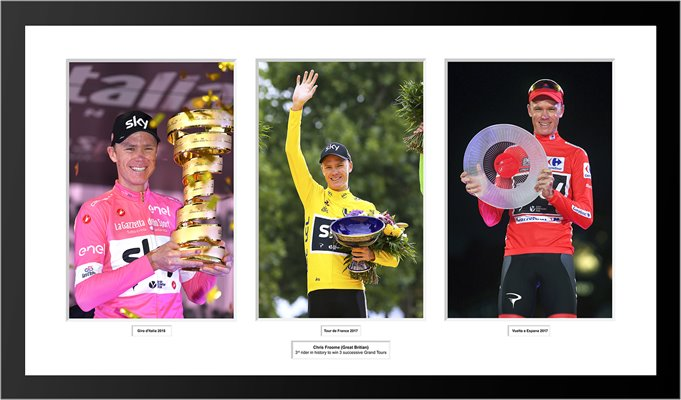 Chris Froome 3 Successive Grand Tours Triple Collage