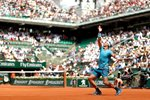 Rafael Nadal Serve Paris French Open 2018 Prints