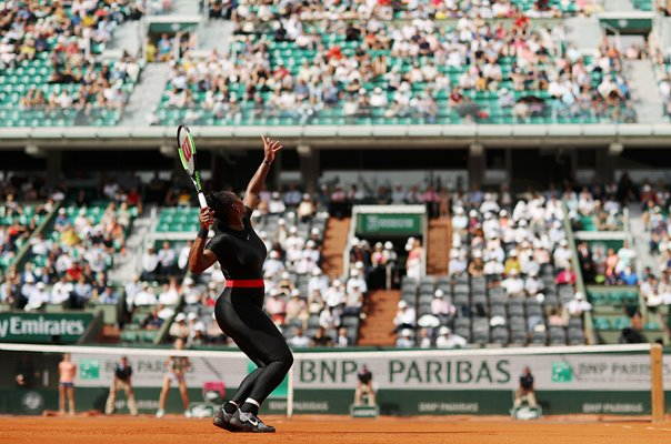 Serena Williams USA Serves French Open Paris 2018