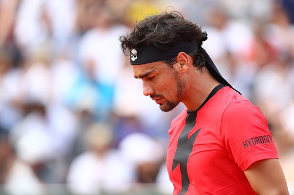 Fabio Fognini Italy French Open Paris 2018
