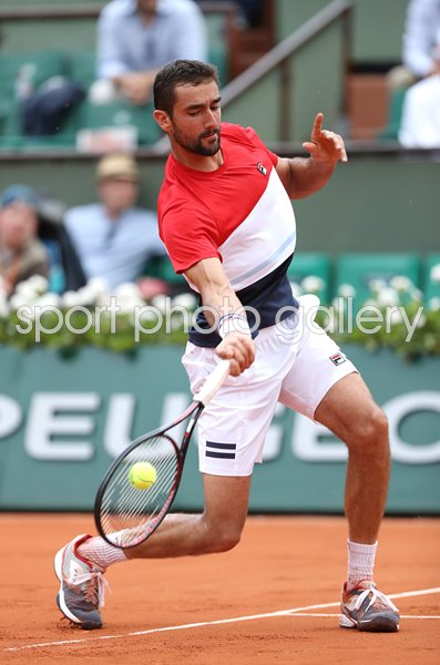 Marin Cilic Croatia Forehand 2018 French Open