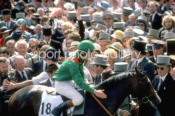Walter Swinburn & Shergar Derby winners 1981