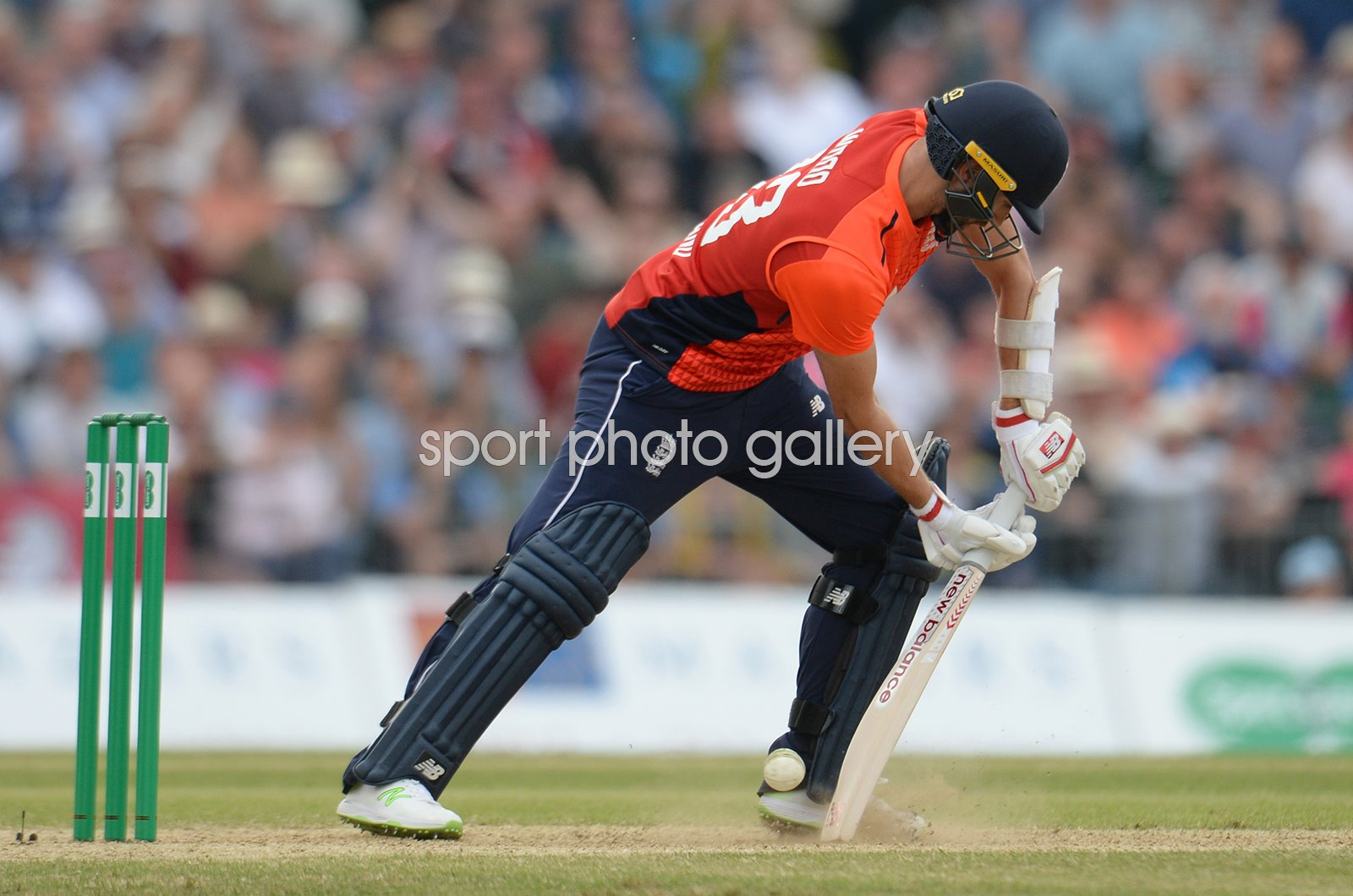 Safyaan Sharif Scotland winning wicket v England ODI 2018