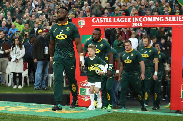 Siya Kolisi South Africa Captain v England Ellis Park 2018