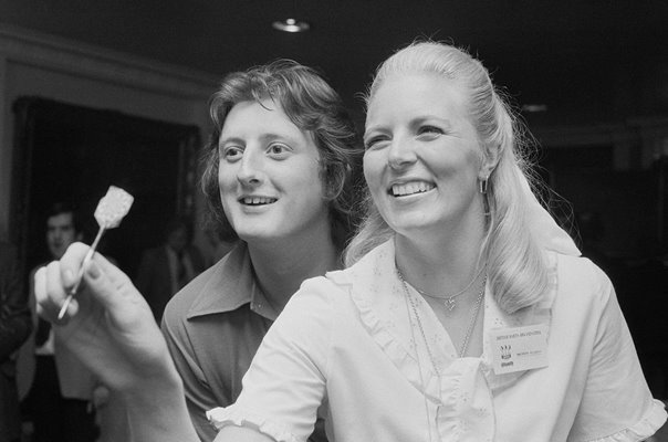 Eric Bristow and Maureen Flowers Darts 1978