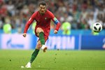 Cristiano Ronaldo Portugal free kick v Spain World Cup 2018 Prints