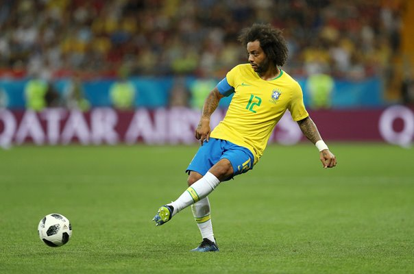 Marcelo Brazil v Switzerland World Cup Football 2018