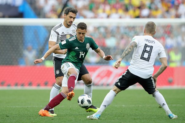 Javier Hernandez Mexico v Germany World Cup 2018