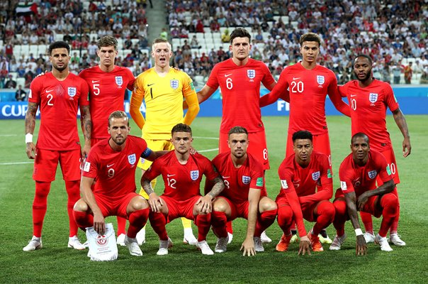 England team v Tunisia World Cup 1st Group Game 2018