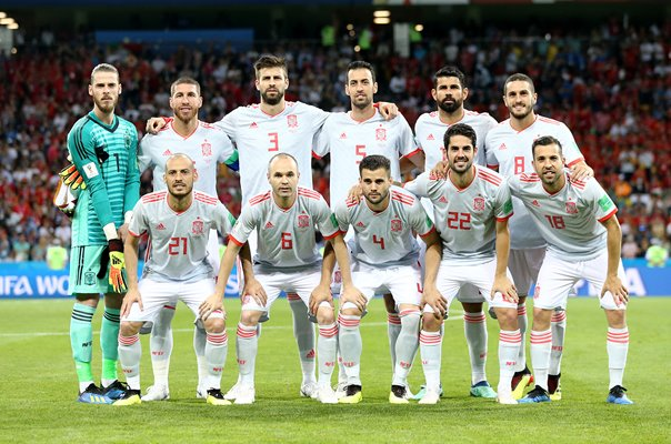 Spain team v Portugal Group B World Cup Russia 2018