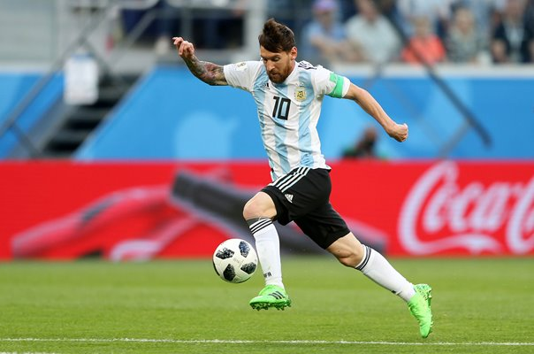Lionel Messi Argentina action v Nigeria World Cup 2018