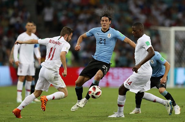 Edinson Cavani Uruguay v Portugal Last 16 World Cup 2018