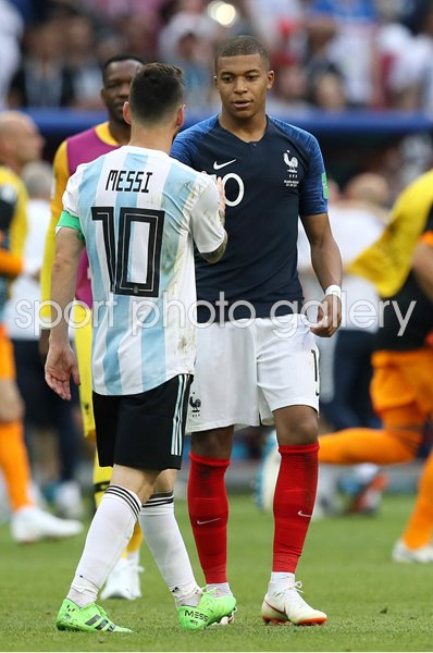 Kylian Mbappe & Lionel Messi France v Argentina World Cup 2018