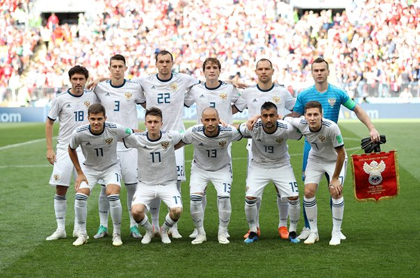 Russia team v Spain Last 16 World Cup 2018