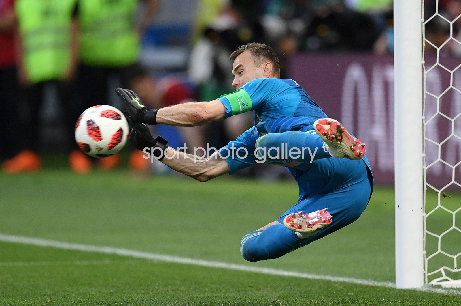 Igor Akinfeev Russia v Spain Last 16 World Cup 2018