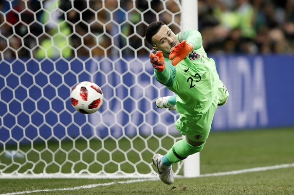 Luka Modric Croatia save v Denmark Last 16 World Cup 2018