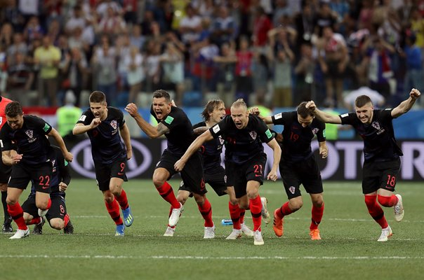 Croatia win Penalty Shoot Out v Denmark World Cup 2018
