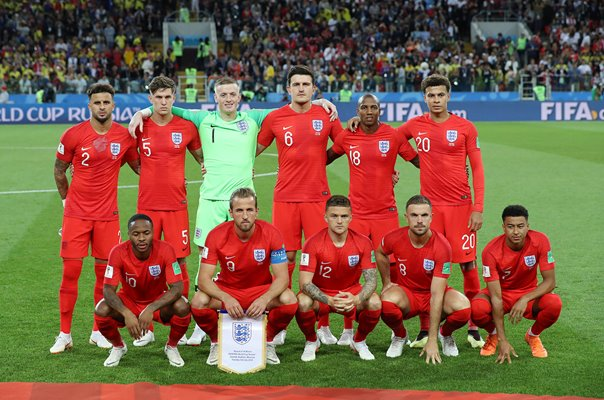 England Team v Colombia Last 16 World Cup 2018