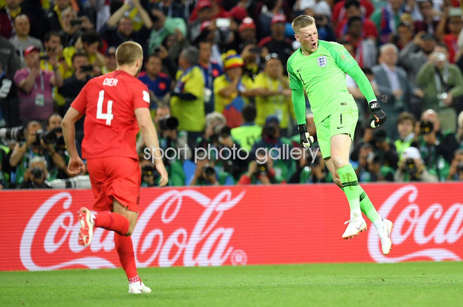 Jordan Pickford & Eric Dier England Penalty Heroes Last 16 World Cup 2018