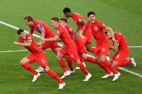 England win on penalties v Colombia World Cup 2018