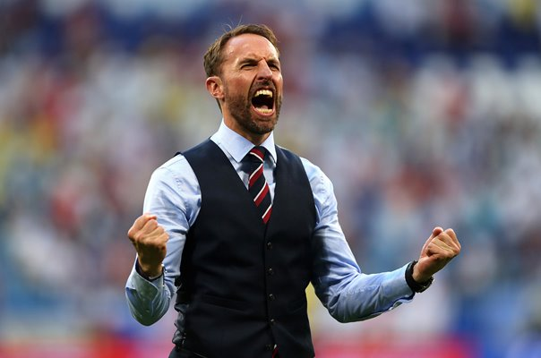 Gareth Southgate England Manager v Sweden Quarter Final World Cup 2018