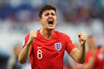 Harry Maguire England scores v Sweden Quarter Final World Cup 2018 Prints