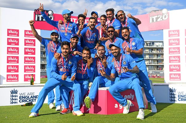 India International T20 Series Winners v England 2018