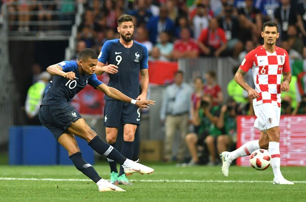 Kylian Mbappe France goal v Croatia World Cup Final 2018