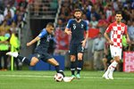 Kylian Mbappe France shoots v Croatia World Cup Final 2018 Prints