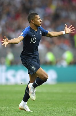Kylian Mbappe France scores v Croatia World Cup Final 2018