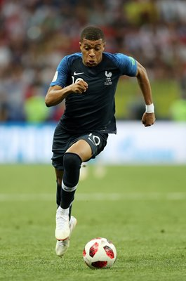 Kylian Mbappe France v Croatia World Cup Final 2018