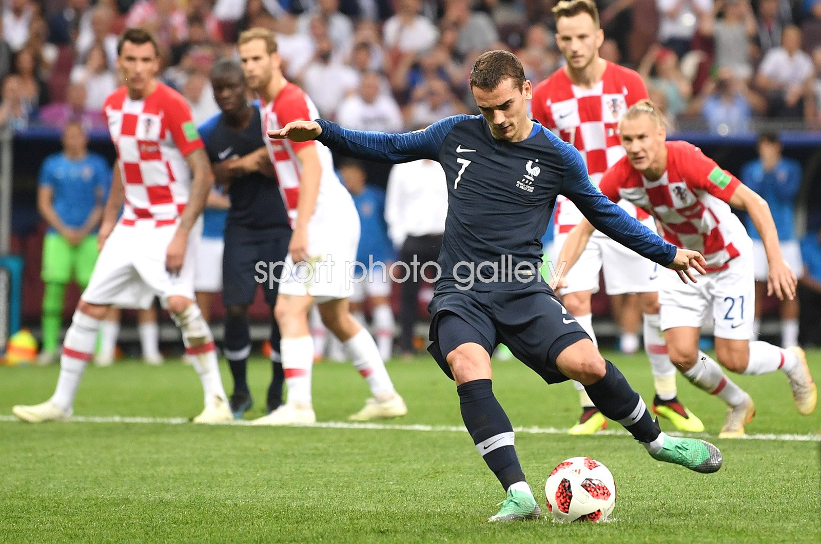 Antoine Griezmann France scores v Croatia World Cup Final 2018