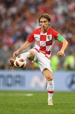 Luka Modric Croatia v France World Cup Final 2018