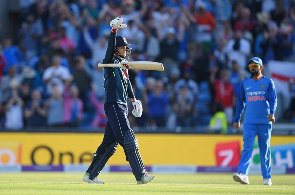 Joe Root Drop the Mic England v India ODI Headingley 2018