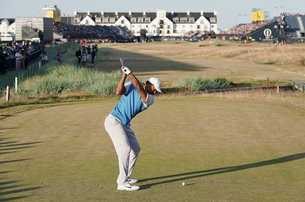 Tiger Woods 18th Tee British Open Carnoustie 2018