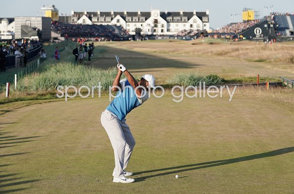 tiger woods 18th tee british open carnoustie 2018 images