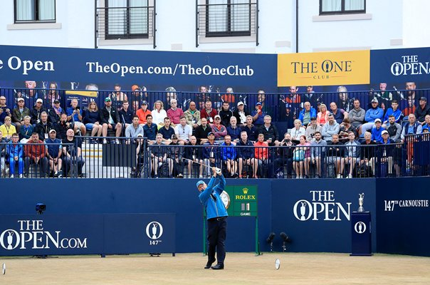 Sandy Lyle Scotland Opening Tee Shot Open Carnoustie 2018