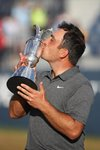Francesco Molinari Claret Jug British Open Carnoustie 2018 Prints