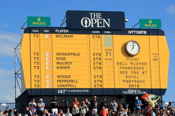 Francesco Molinari British Open Scoreboard Carnoustie 2018