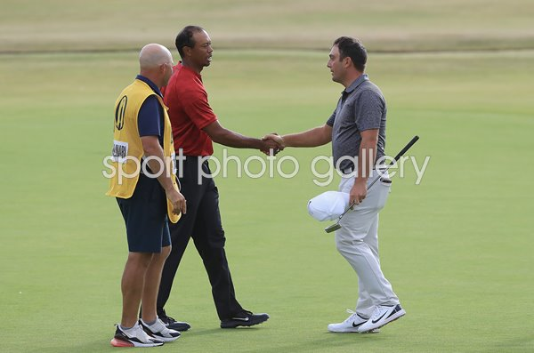 Francesco Molinari & Tiger Woods British Open Carnoustie 2018