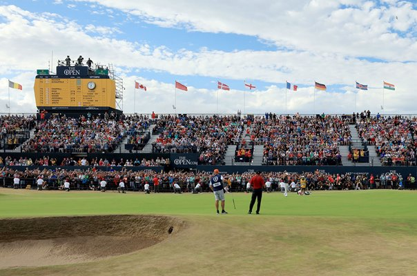 Francesco Molinari 18th Green British Open Carnoustie 2018