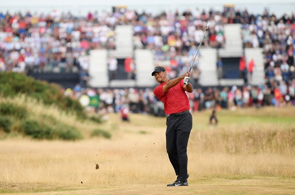Tiger Woods 4th Hole Open Championship Carnoustie 2018