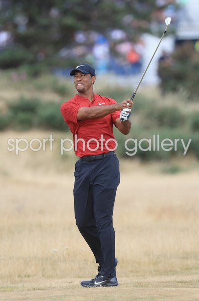 Tiger Woods Final Round British Open Carnoustie 2018