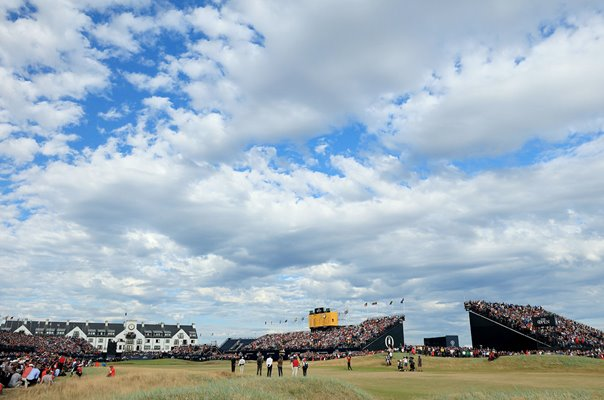 Tiger Woods 18th Hole Open Championship Carnoustie 2018