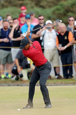 Tiger Woods USA Backswing British Open Carnoustie 2018