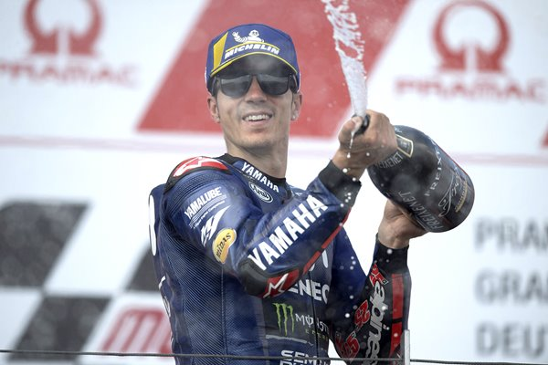 Maverick Vinales MotoGP Germany Podium 2018