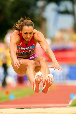 Jessica Ennis Long Jump flight Gotzis 2012