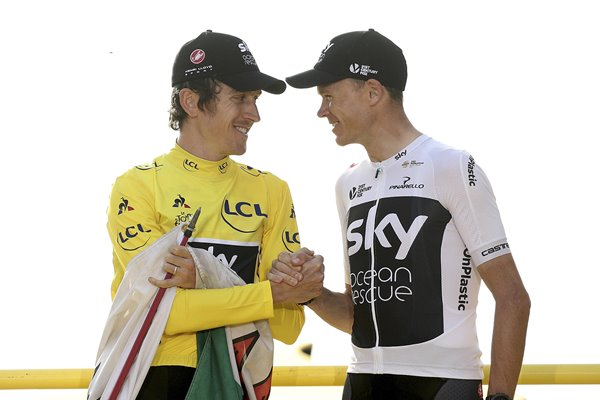Geraint Thomas Chris Groome Tour de France 2018