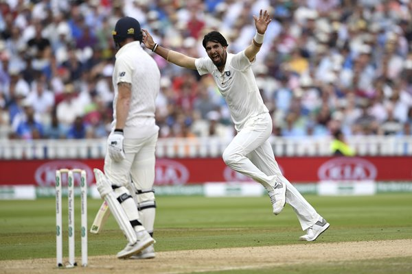 Ishant Sharma Celebrates England v India 1st Test Day Three
