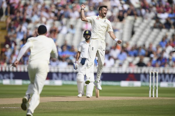 James Anderson England v India 1st Test Day Four